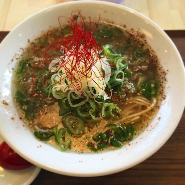 めしけんの青唐辛子担々麺