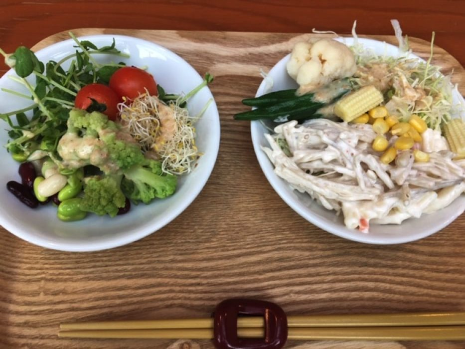 和食カフェ温のサラダバー